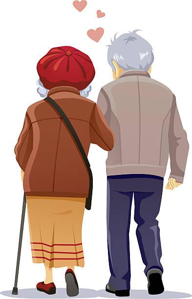 Walking In Love Clip Art: Royalty Free Senior Couple Clip Art, Vector Images