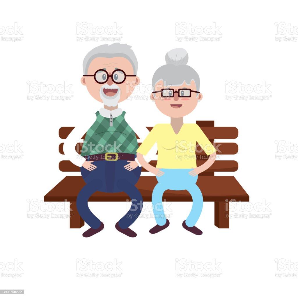 altes ehepaar auf dem stuhl mit frisur stock vektor art und mehr bilder von alt 802796272 istock. Black Bedroom Furniture Sets. Home Design Ideas