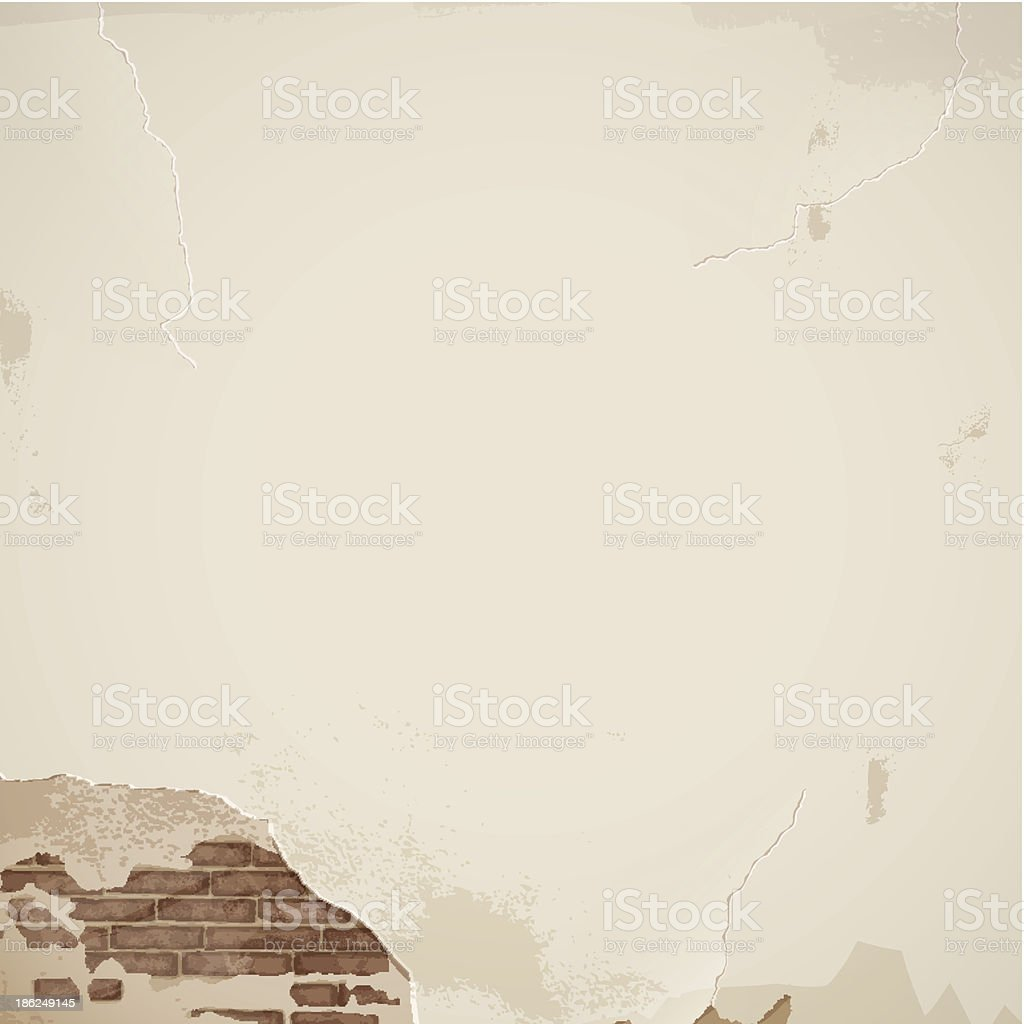 Old cracked wall - background royalty-free stock vector art