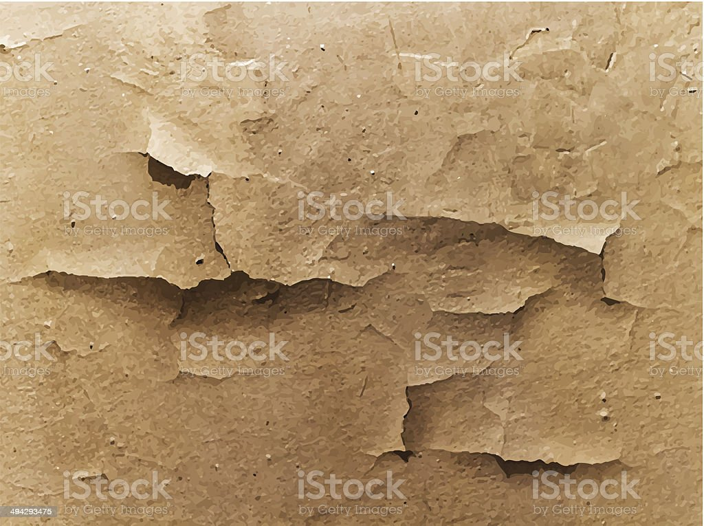 old cracked wall vector art illustration