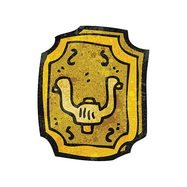 alte türklopfer comic - türklopfer stock-grafiken, -clipart, -cartoons und -symbole