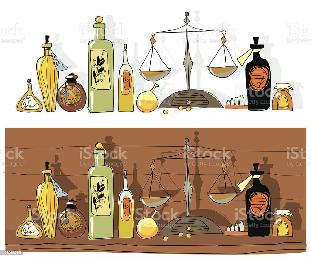 Old drugstore royalty-free old drugstore stock vector art & more images of alchemy