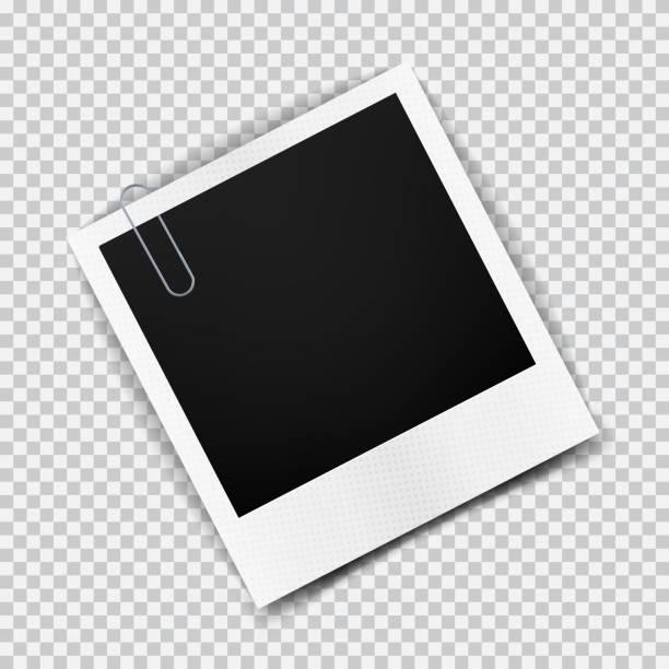 늙음 엠티 현실적일 포토서제스트 프페임 투명 영향력 에 체크 - 종이 클립 stock illustrations