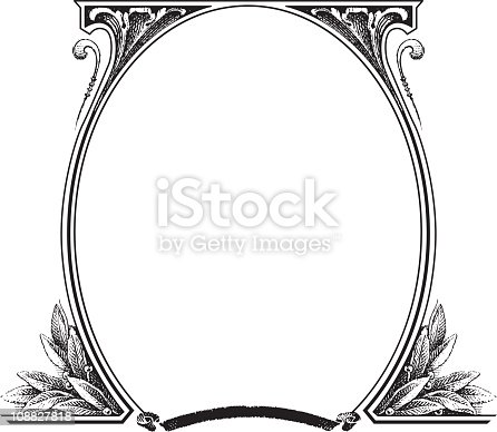 istock Old fashion picture frame 108827818