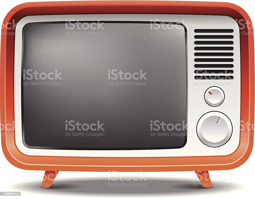 Old fashion retro tv set royalty-free old fashion retro tv set stock vector art & more images of broadcasting