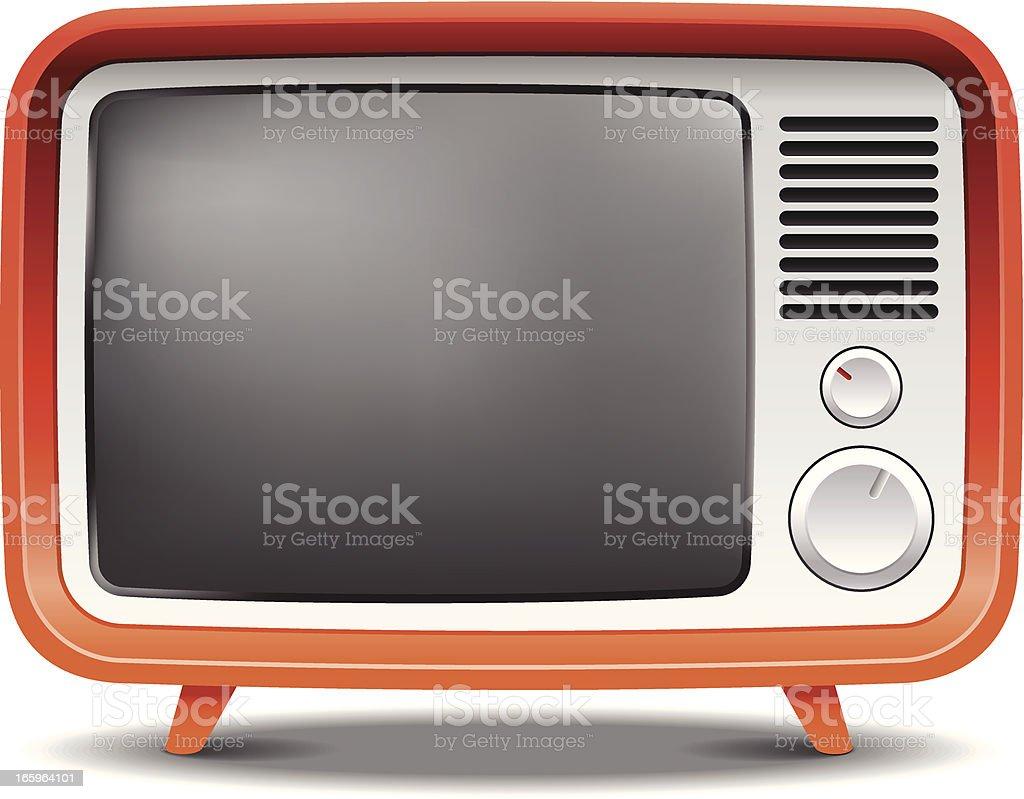 Old fashion retro tv set vector art illustration