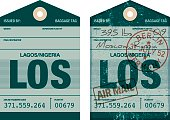 Old Fashioned Airport Luggage Tag Icon