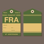 Old Fashioned Airport Luggage Tag Template