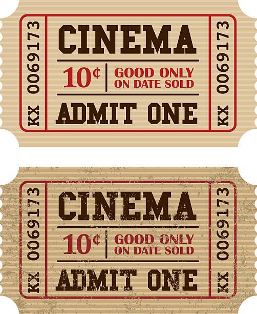 구식이다 영화 티켓 스텁 아이콘크기 - 티켓 스텁 stock illustrations
