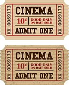 Old Fashioned Cinema Ticket Stub Icon