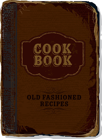 Old fashioned cookbook cover