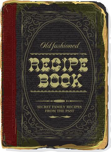 Old fashioned Family Recipe book cover