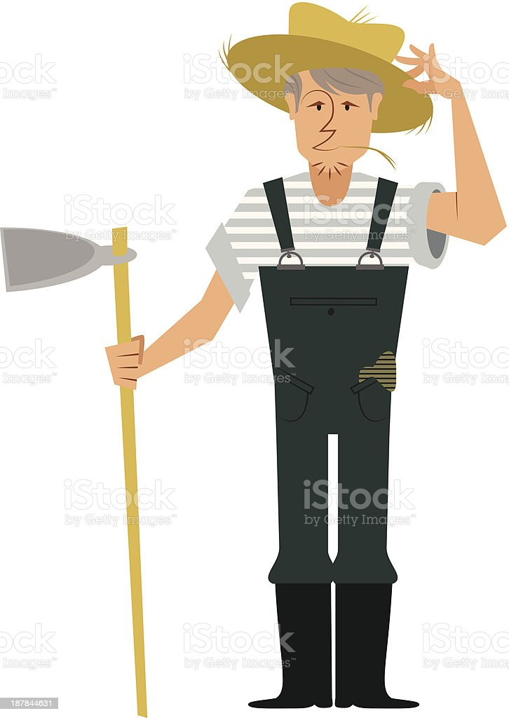 old fashioned Farmer royalty-free stock vector art