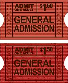 Old Fashioned General Admission Ticket Stub Icon