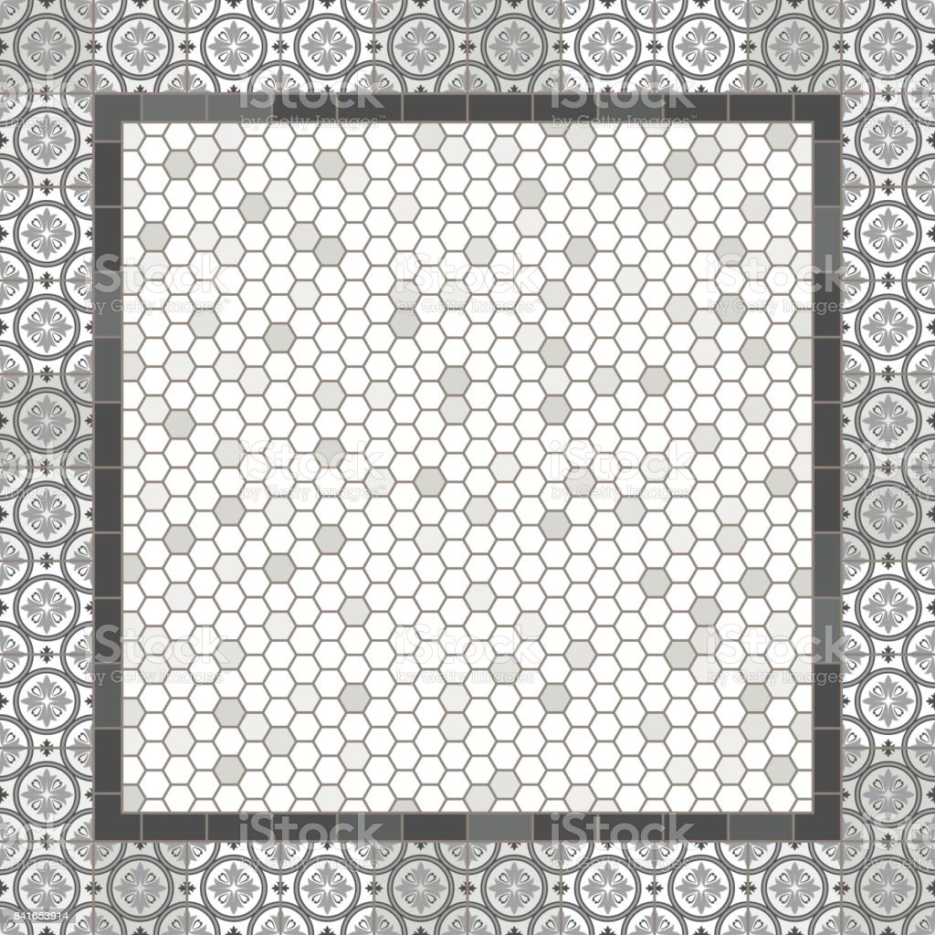 Old Fashioned Gray Mosaic Tile Alphabet Letters Stock Vector Art - Art deco mosaic tile patterns