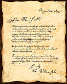 Old fashioned letter correspondence design template