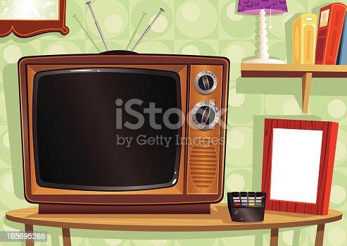 istock Old fashioned living room scene 165695265