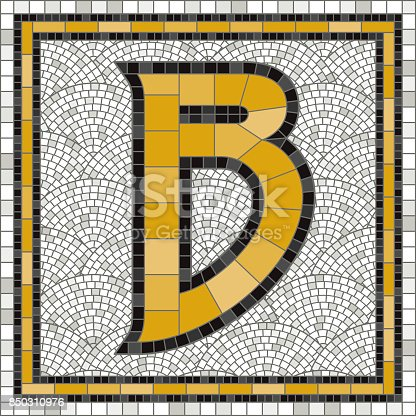 istock Old Fashioned Mosaic Tile Alphabet Letters 850310976