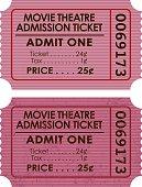 Old Fashioned Movie Ticket Stub Icon