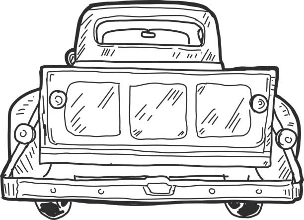 coloring pages car back view - photo#24