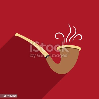 istock Old Fashioned Pipe icon 1287480856