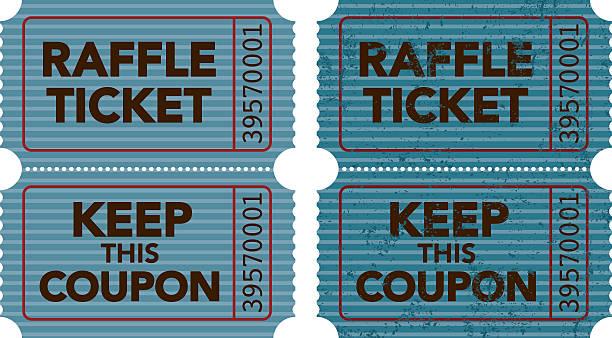 old fashioned raffle ticket stub icon vector art illustration