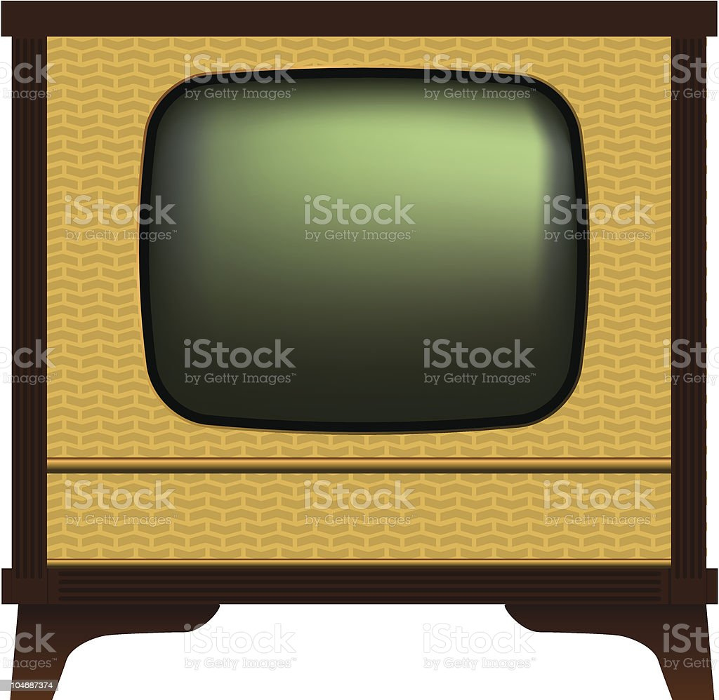 Old fashioned tv  Analog stock vector
