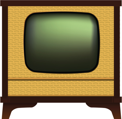 Old Fashioned Tv Stock Illustration - Download Image Now