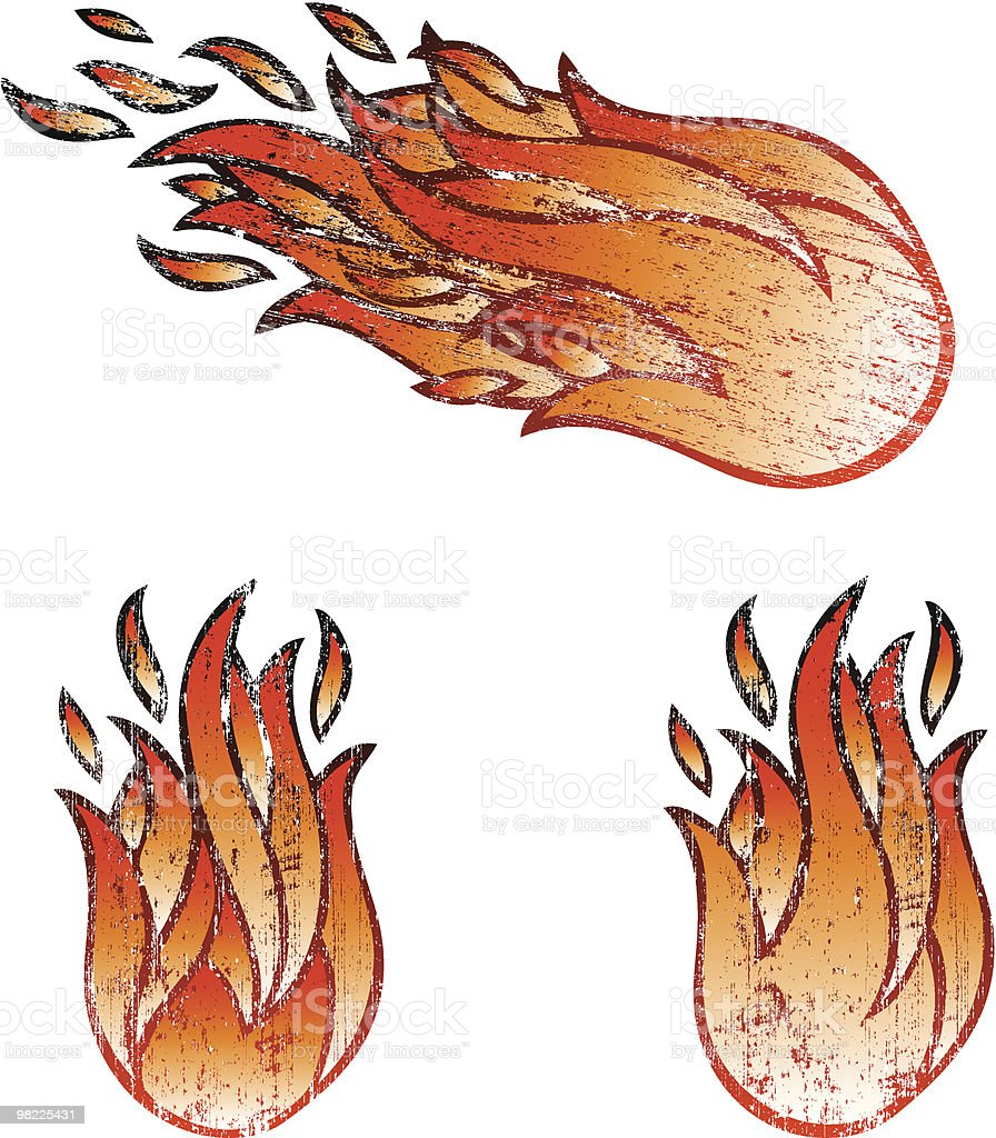 Old Flames royalty-free old flames stock vector art & more images of burning
