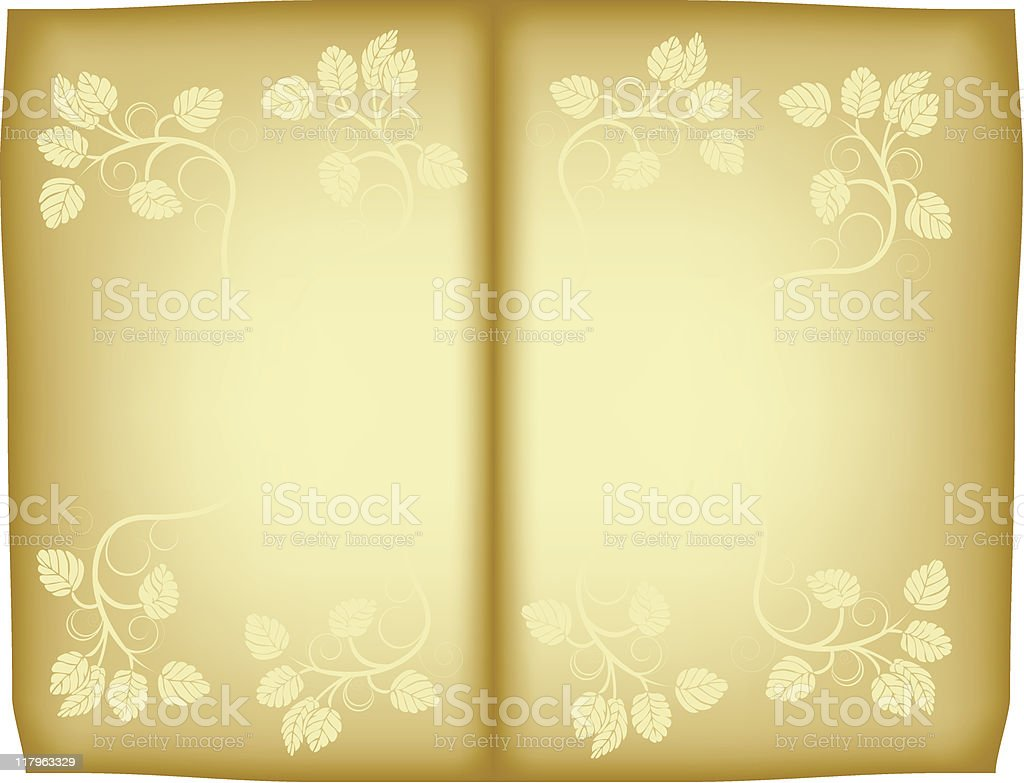 Old floral paper royalty-free stock vector art
