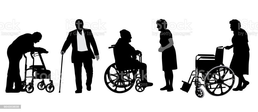 Alte Leute Freunde – Vektorgrafik