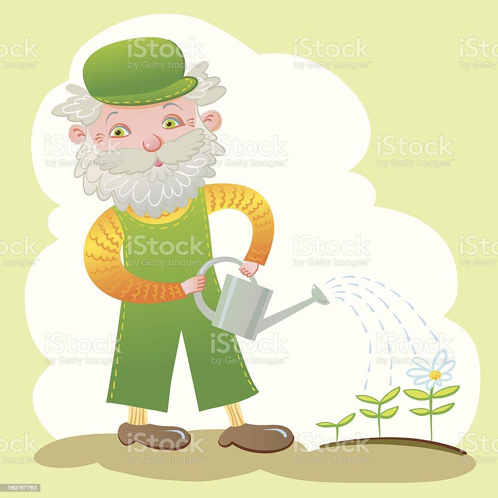Old Gardener. royalty-free old gardener stock vector art & more images of activity