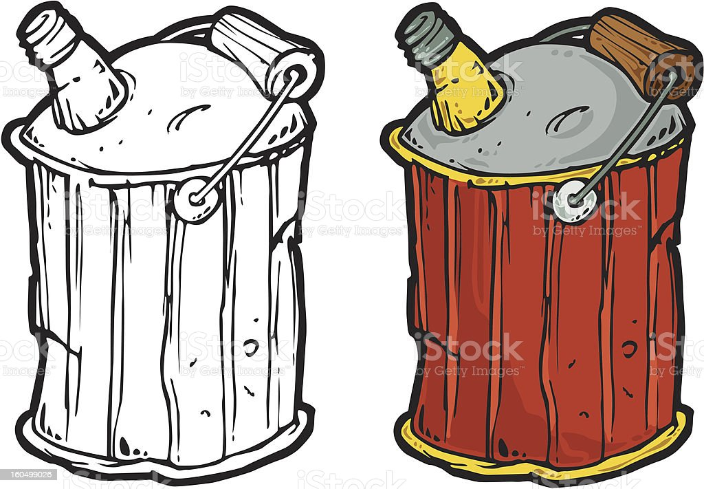 old gas can vector art illustration