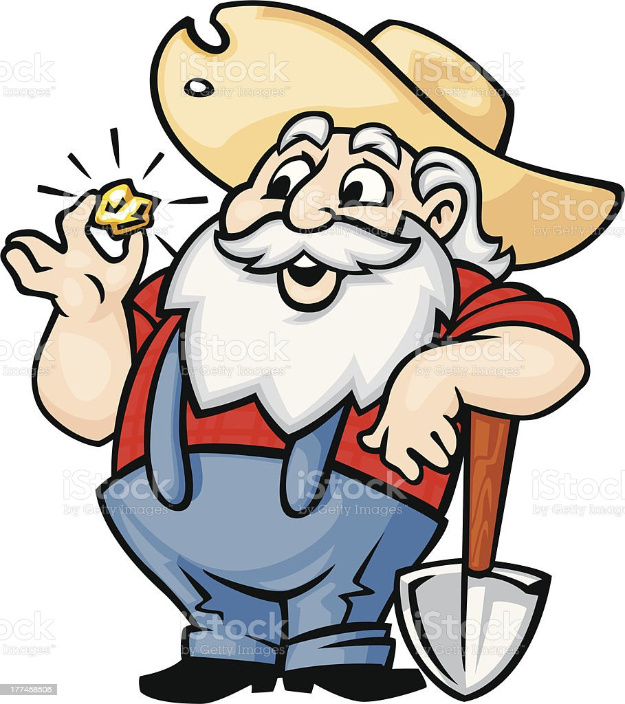 Old Gold Miner Stock Vector Art & More Images of Beard ...