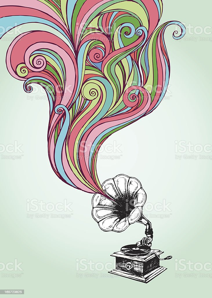 old gramophone stock illustration download image now istock 2
