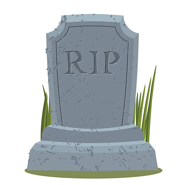 old gravestone with cracks. tomb isolated. grave on white backgr - tombstone stock illustrations, clip art, cartoons, & icons