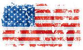 Grunge old United States vector flag