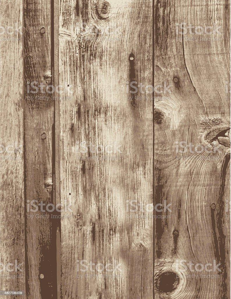 Old Grunge Wood Boards Empty Vertical Planks vector art illustration