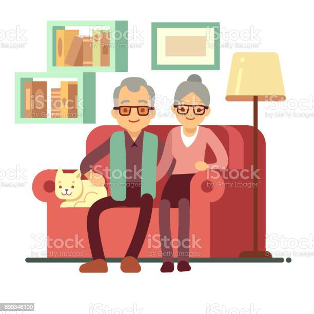 Old happy family husband and wife on sofa at home retirement vector vector id690346100?b=1&k=6&m=690346100&s=612x612&h=mfo71vsotty gs0lmz9ccykfcvej xyhrjajtihduj4=