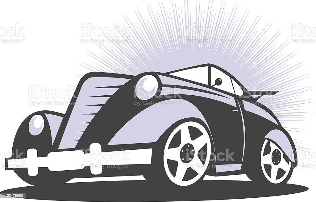 Old hot car royalty-free stock vector art