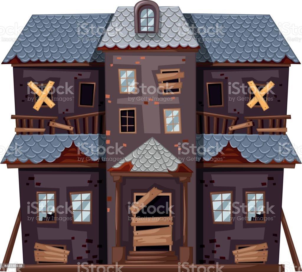Couleur Façade Maison Ancienne maison ancienne en couleur grise vecteurs libres de droits