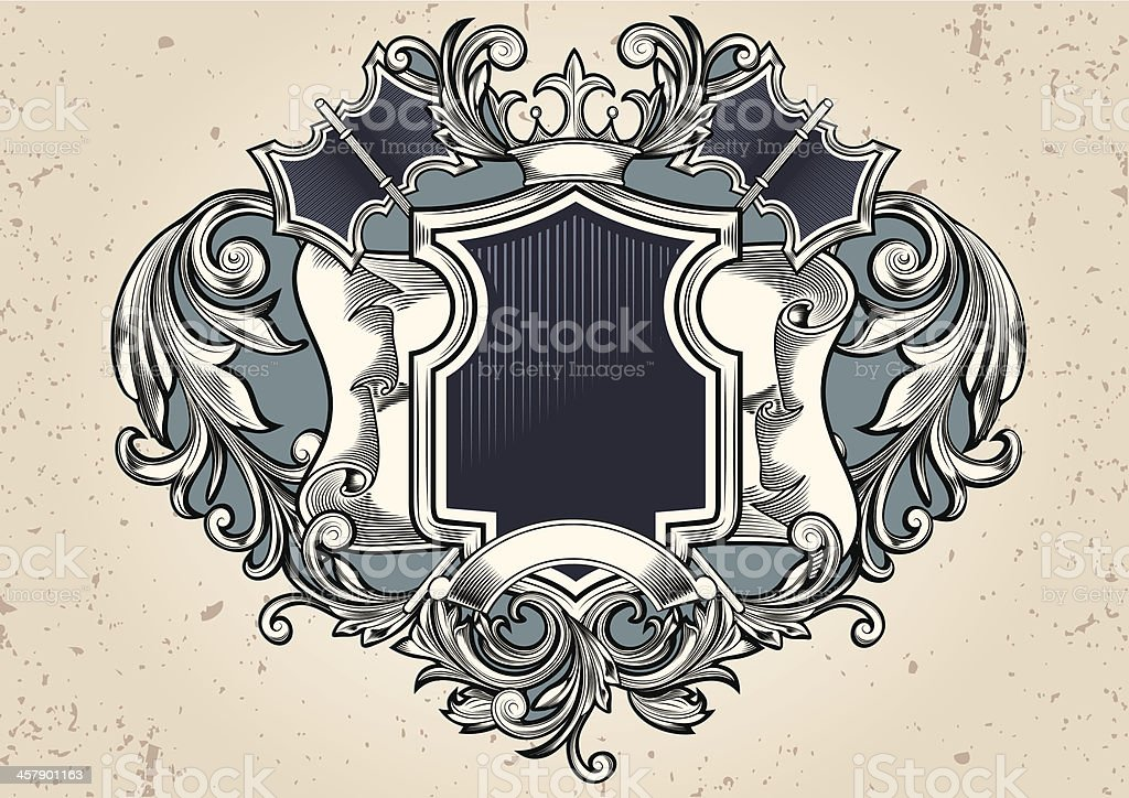 Old Insignia royalty-free old insignia stock vector art & more images of abstract