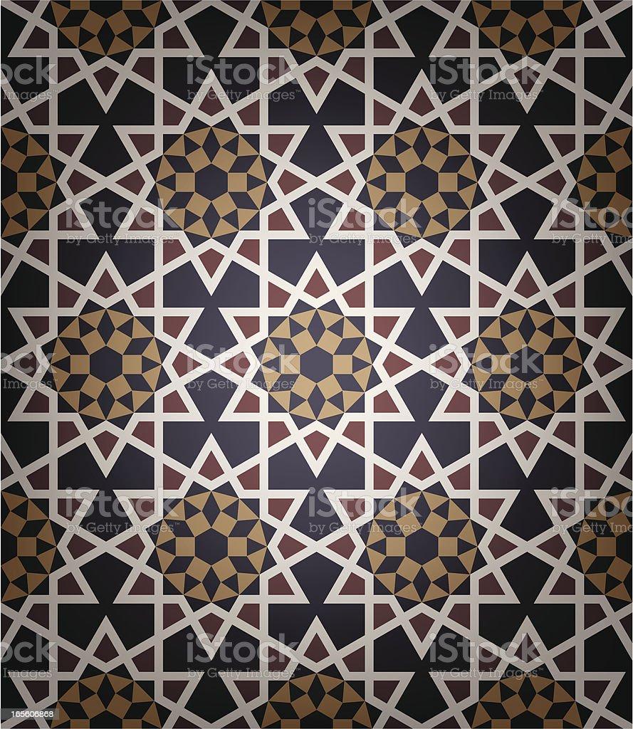 Old Islamic tile royalty-free stock vector art