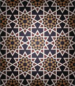 Seamless islamic pattern taken from mosque walls.