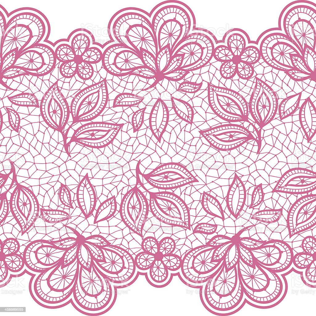 Old lace seamless pattern, ornamental flowers. Vector texture. vector art illustration