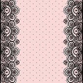 Seamless vector illustration with lace on a pink background.
