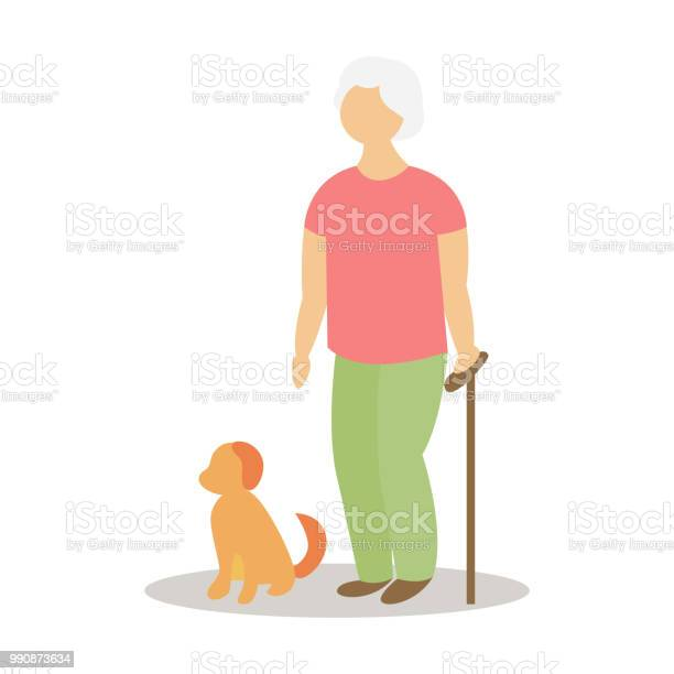 Old lady with puppy sitting on the ground vector id990873634?b=1&k=6&m=990873634&s=612x612&h=xwnjnf6hjjizrg3jhha0o rs4liycfyh6if45dhuyzc=