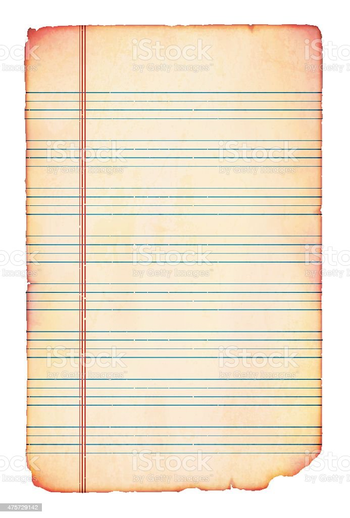 english lined paper