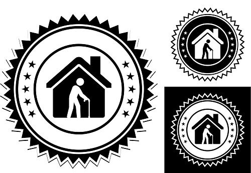 Old Man Alone in the House Icon