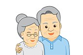 Old man and old woman